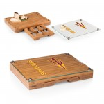 ARIZONA STATE SUN DEVILS – CONCERTO GLASS TOP CHEESE CUTTING BOARD & TOOLS SET, (BAMBOO)