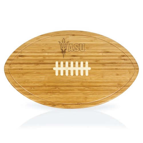 ARIZONA STATE SUN DEVILS – KICKOFF FOOTBALL CUTTING BOARD & SERVING TRAY, (BAMBOO)