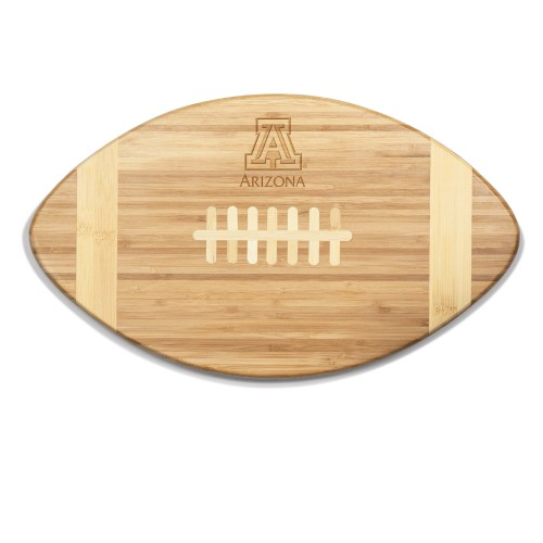 ARIZONA WILDCATS – TOUCHDOWN! FOOTBALL CUTTING BOARD & SERVING TRAY, (BAMBOO)