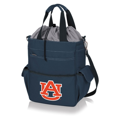 AUBURN TIGERS – ACTIVO COOLER TOTE BAG, (NAVY BLUE WITH GRAY ACCENTS)