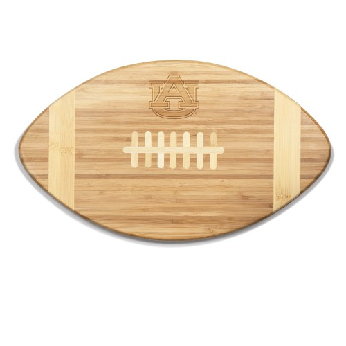 AUBURN TIGERS – TOUCHDOWN! FOOTBALL CUTTING BOARD & SERVING TRAY, (BAMBOO)