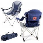 AUBURN TIGERS – RECLINING CAMP CHAIR, (NAVY BLUE WITH GRAY ACCENTS)