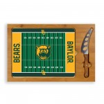 BAYLOR BEARS – ICON GLASS TOP CUTTING BOARD & KNIFE SET, (RUBBERWOOD & BAMBOO)