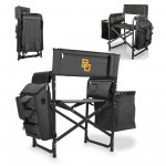 BAYLOR BEARS – FUSION BACKPACK CHAIR WITH COOLER, (DARK GRAY WITH BLACK ACCENTS)