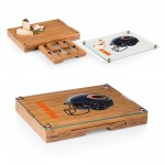 CHICAGO BEARS – CONCERTO GLASS TOP CHEESE CUTTING BOARD & TOOLS SET