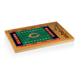 CHICAGO BEARS – ICON GLASS TOP CUTTING BOARD & KNIFE SET