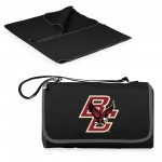 BOSTON COLLEGE EAGLES – BLANKET TOTE OUTDOOR PICNIC BLANKET, (BLACK WITH BLACK EXTERIOR)