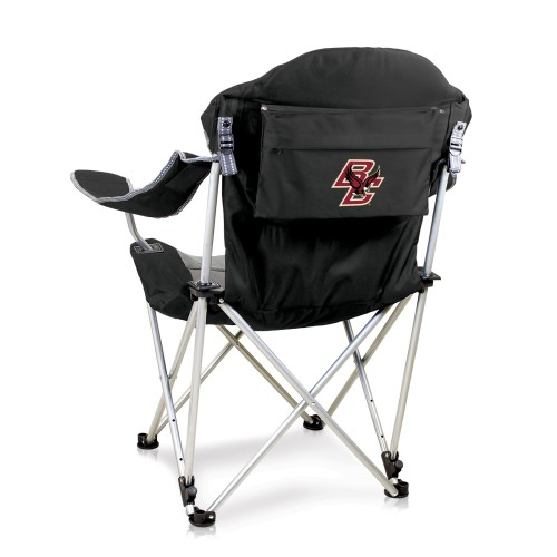 BOSTON COLLEGE EAGLES – RECLINING CAMP CHAIR, (BLACK WITH GRAY ACCENTS)