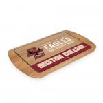 BOSTON COLLEGE EAGLES – BILLBOARD GLASS TOP SERVING TRAY, (RUBBERWOOD)