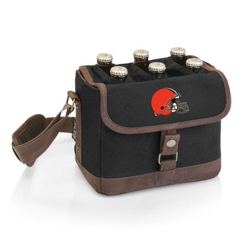 CLEVELAND BROWNS – BEER CADDY COOLER TOTE WITH OPENER