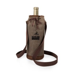 CLEVELAND BROWNS – WAXED CANVAS WINE TOTE