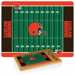 CLEVELAND BROWNS – ICON GLASS TOP CUTTING BOARD & KNIFE SET