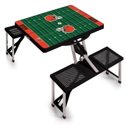 CLEVELAND BROWNS – PICNIC TABLE PORTABLE FOLDING TABLE WITH SEATS