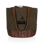CLEVELAND BROWNS – CORONADO CANVAS AND WILLOW BASKET TOTE
