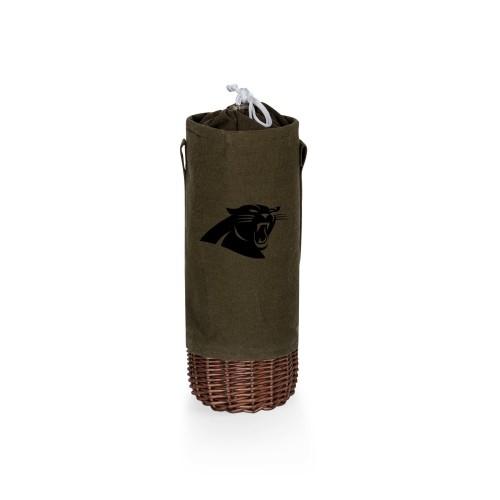 CAROLINA PANTHERS – MALBEC INSULATED CANVAS AND WILLOW WINE BOTTLE BASKET