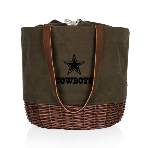 DALLAS COWBOYS – CORONADO CANVAS AND WILLOW BASKET TOTE
