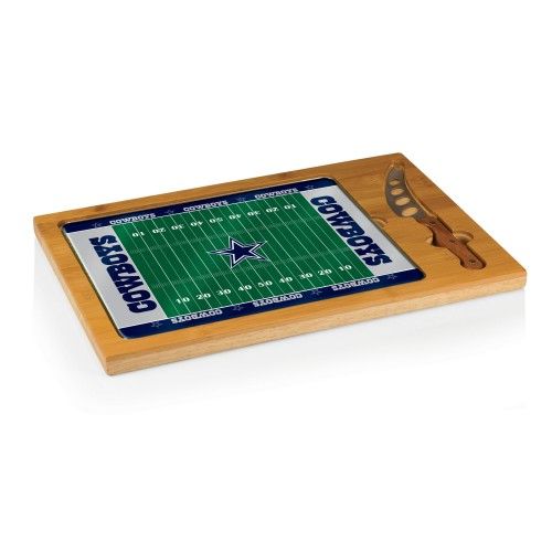 DALLAS COWBOYS – ICON GLASS TOP CUTTING BOARD & KNIFE SET