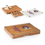 EAST CAROLINA PIRATES – GLASS TOP CHEESE CUTTING BOARD & TOOLS SET, (BAMBOO)