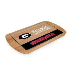 GEORGIA BULLDOGS – BILLBOARD GLASS TOP SERVING TRAY, (RUBBERWOOD)