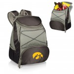 IOWA HAWKEYES – BPG BACKPACK COOLER, (BLACK WITH GRAY ACCENTS)