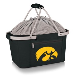 IOWA HAWKEYES – METRO BASKET COLLAPSIBLE COOLER TOTE, (BLACK)