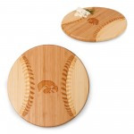 IOWA HAWKEYES – HOME RUN! BASEBALL CUTTING BOARD & SERVING TRAY, (RUBBERWOOD)
