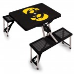 IOWA HAWKEYES – PICNIC TABLE PORTABLE FOLDING TABLE WITH SEATS