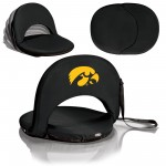IOWA HAWKEYES – PORTABLE RECLINING SEAT, (BLACK)