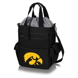 IOWA HAWKEYES – ACTIVO COOLER TOTE BAG, (BLACK WITH GRAY ACCENTS)