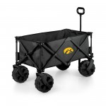 IOWA HAWKEYES – ADVENTURE WAGON ELITE ALL-TERRAIN PORTABLE UTILITY WAGON, (DARK GRAY)
