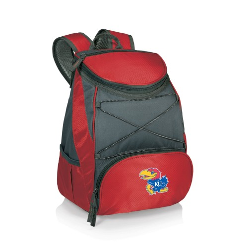 KANSAS JAYHAWKS – BPG BACKPACK COOLER, (RED WITH GRAY ACCENTS)