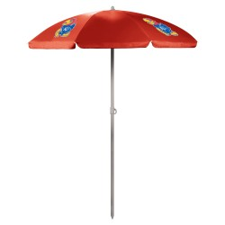 KANSAS JAYHAWKS – 5.5 FT. PORTABLE BEACH UMBRELLA
