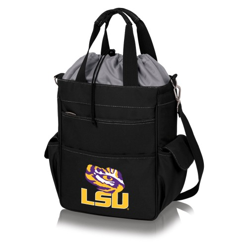 LSU TIGERS – COOLER TOTE BAG, (BLACK WITH GRAY ACCENTS)