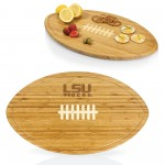 LSU TIGERS – KICKOFF FOOTBALL CUTTING BOARD & SERVING TRAY, (BAMBOO)