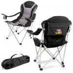 LSU TIGERS – RECLINING CAMP CHAIR, (BLACK WITH GRAY ACCENTS)