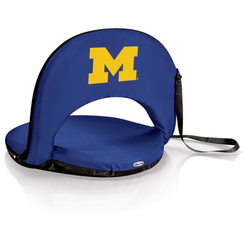 MICHIGAN WOLVERINES – PORTABLE RECLINING SEAT, (NAVY BLUE)