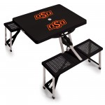 OKLAHOMA STATE COWBOYS – PICNIC TABLE PORTABLE FOLDING TABLE WITH SEATS