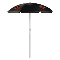 OKLAHOMA STATE COWBOYS – 5.5 FT. PORTABLE BEACH UMBRELLA, (BLACK)