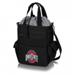 OHIO STATE BUCKEYES – ACTIVO COOLER TOTE BAG, (BLACK WITH GRAY ACCENTS)
