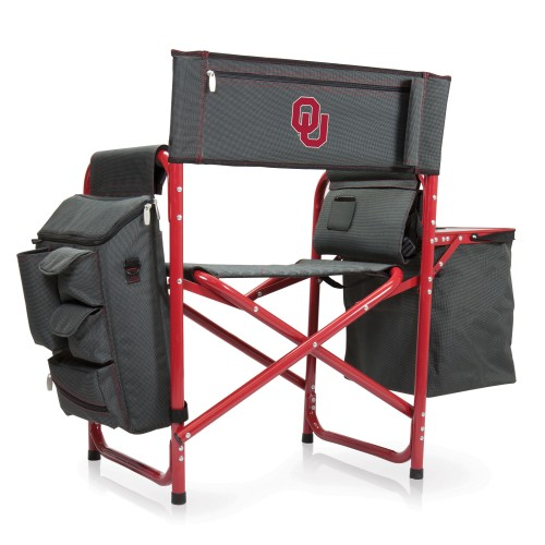 OKLAHOMA SOONERS – FUSION BACKPACK CHAIR WITH COOLER