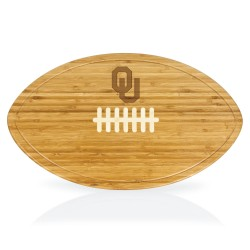 OKLAHOMA SOONERS – KICKOFF FOOTBALL CUTTING BOARD & SERVING TRAY, (BAMBOO)