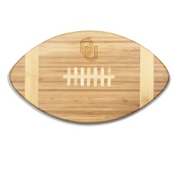 OKLAHOMA SOONERS – TOUCHDOWN! FOOTBALL CUTTING BOARD & SERVING TRAY, (BAMBOO)