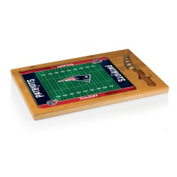 NEW ENGLAND PATRIOTS – ICON GLASS TOP CUTTING BOARD & KNIFE SET