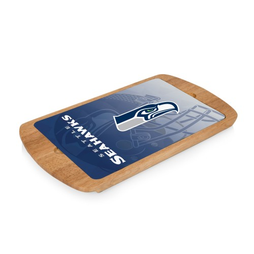 SEATTLE SEAHAWKS – BILLBOARD GLASS TOP SERVING TRAY