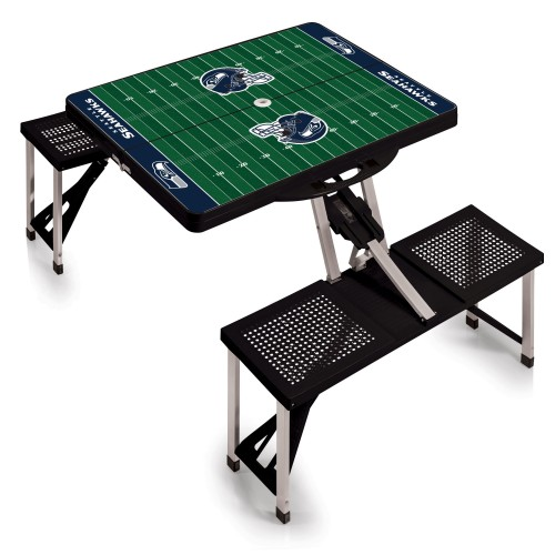SEATTLE SEAHAWKS – PICNIC TABLE PORTABLE FOLDING TABLE WITH SEATS