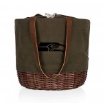 SEATTLE SEAHAWKS – CORONADO CANVAS AND WILLOW BASKET TOTE