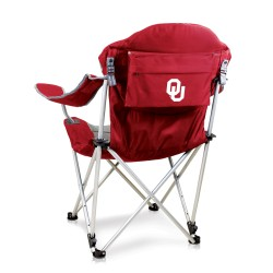 OKLAHOMA SOONERS – RECLINING CAMP CHAIR, (DARK RED)