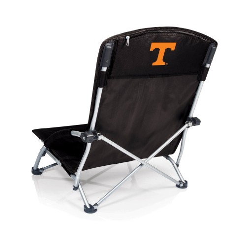 TENNESSEE VOLUNTEERS – TRANQUILITY PORTABLE BEACH CHAIR, (BLACK)