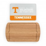 TENNESSEE VOLUNTEERS – BILLBOARD GLASS TOP SERVING TRAY, (RUBBERWOOD)