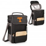 TENNESSEE VOLUNTEERS – DUET WINE & CHEESE TOTE, (BLACK WITH GRAY ACCENTS)